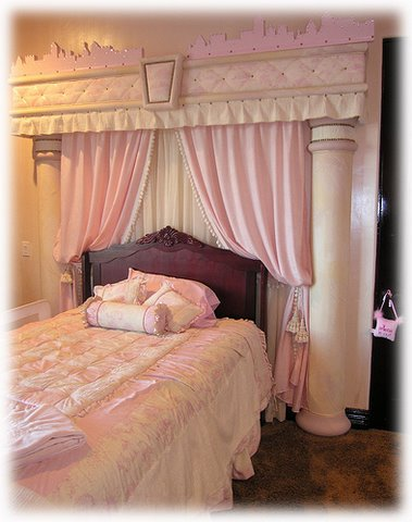 Pink princess themed bedroom