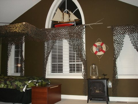 Military themed room for a boy